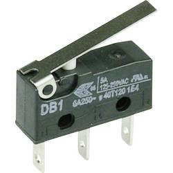 Mikrospínač s páčkou Cherry Sw. DB1C-B1LC, 250 V/AC, 6 A, 1x zap/(zap)