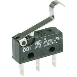 Mikrospínač s páčkou Cherry Sw. DB1C-B1SC, 250 V/AC, 6 A, 1x zap/(zap)