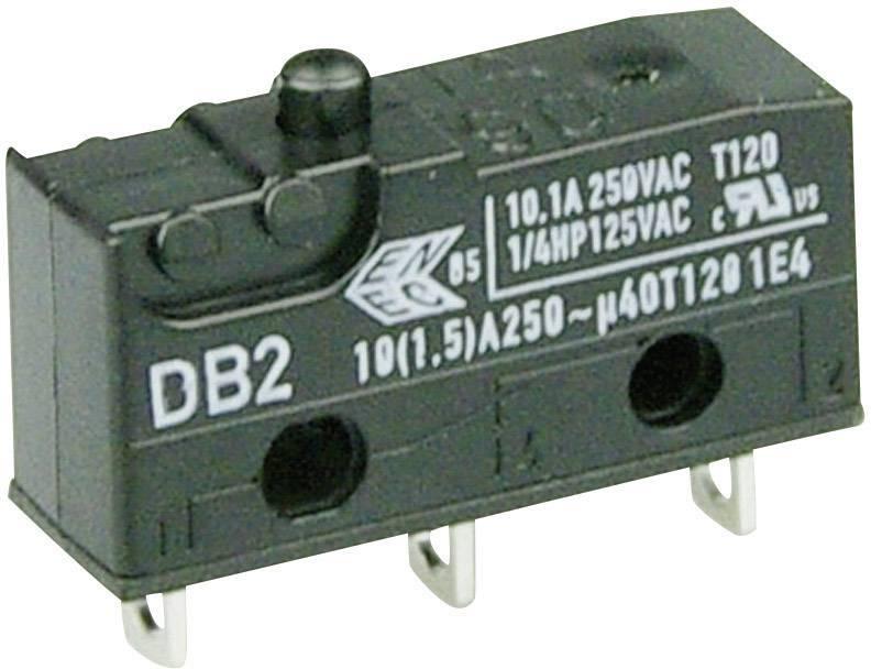 Mikrospínač - tŕň Cherry Switches DB2C-A1AA, 250 V/AC, 10 A