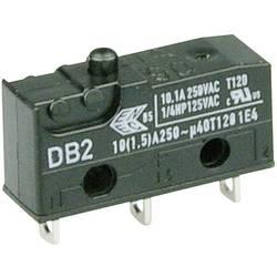 Mikrospínač Cherry Sw. DB2C-A1AA, 250 V/AC, 10 A, pájené, 1x zap/(zap)