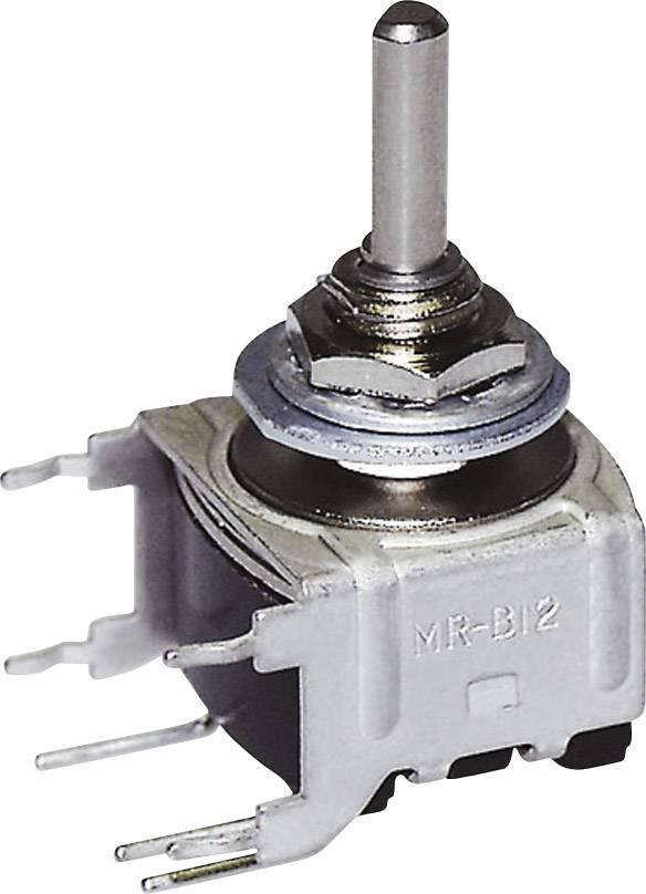 Otočný spínač NKK Switches MRB14B, 28 V DC/AC, 0.1 A, pozice 3, 2 x 45 °, 1 ks