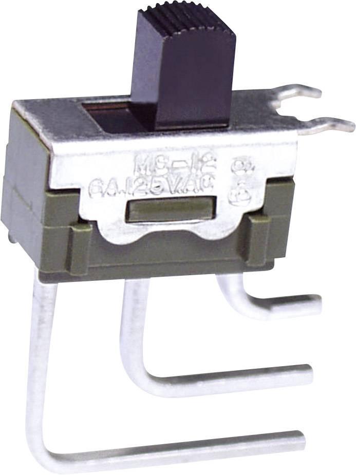 Posuvný přepínač NKK Switches MS12ASG40, 1x zap/zap