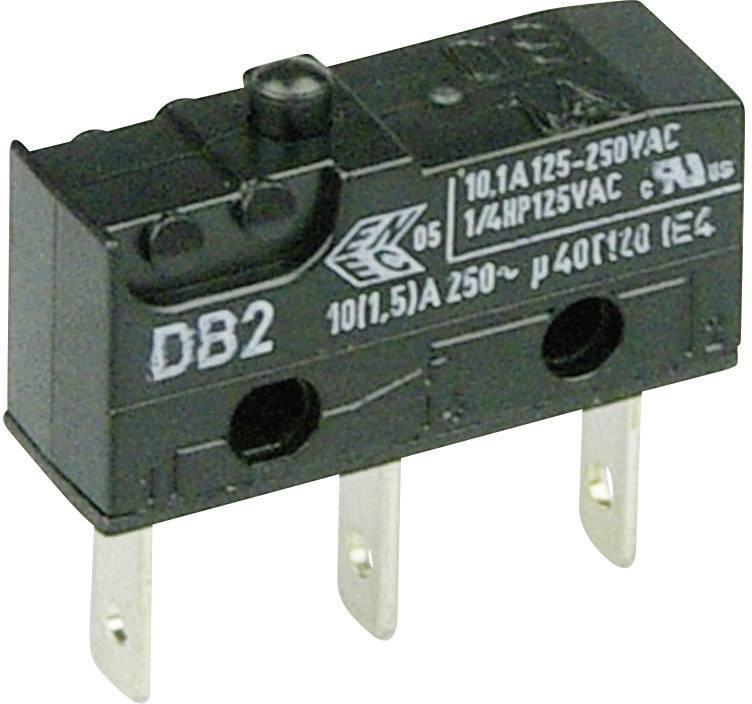 Mikrospínač - tŕň Cherry Switches DB2C-B1AA, 250 V/AC, 10 A