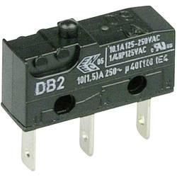 Mikrospínač Cherry Sw. DB2C-B1AA, 250 V/AC, 10 A, 1x zap/(zap)