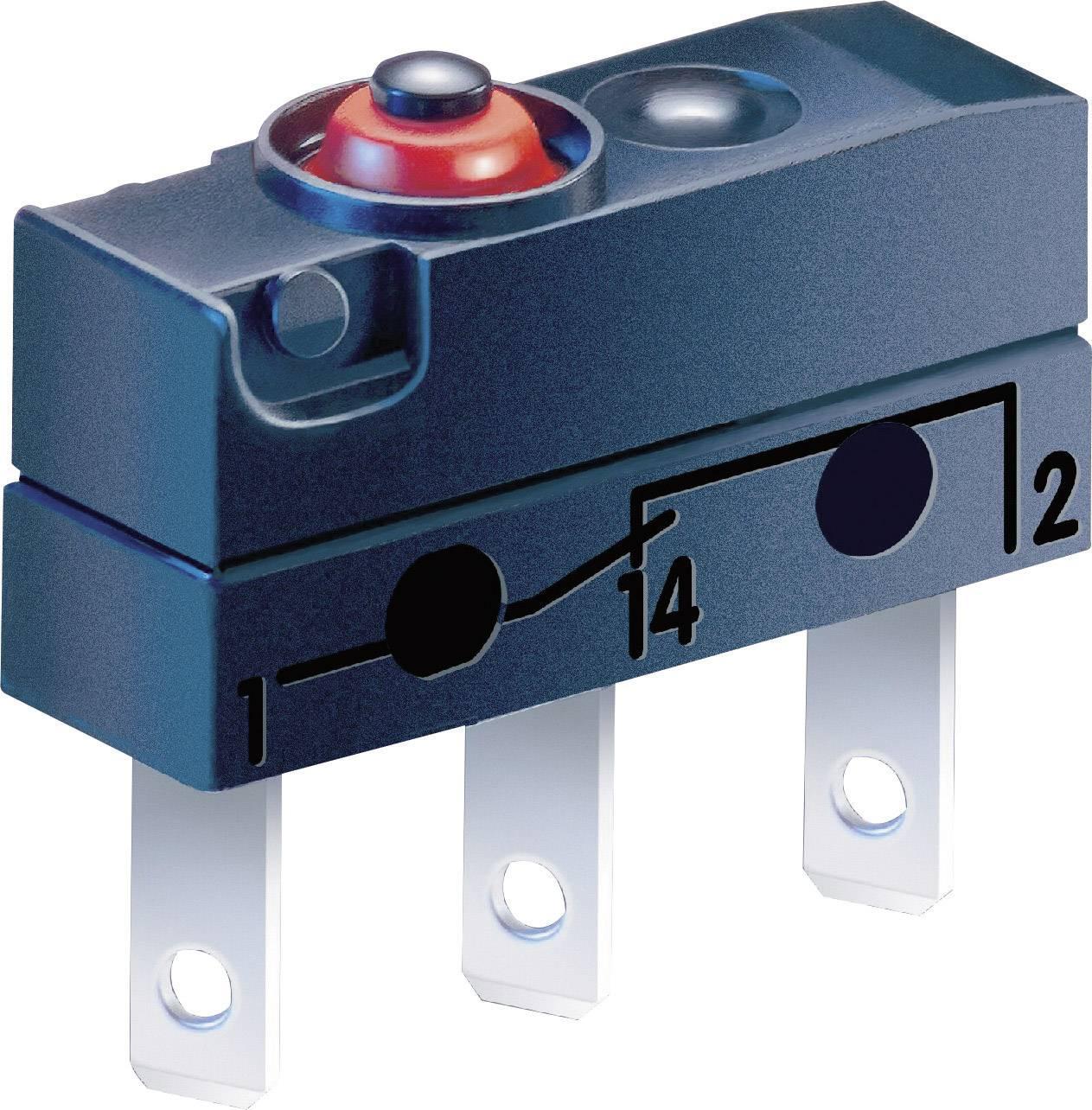 Mikrospínač Cherry Switches DC2C-L1AA, 250 V/AC, 10 A