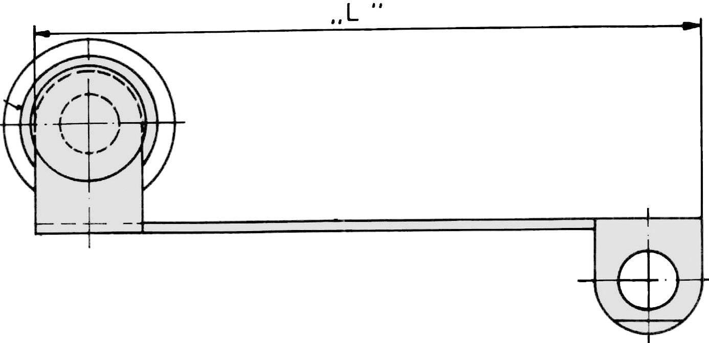 Prídavný ovládač Cherry Switches 71400260, páka s valčekom, 1 ks