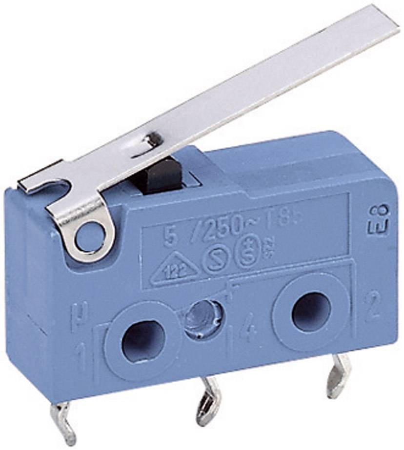 Mikrospínač - rovná kovová páka Marquardt 1050.7202, 250 V/AC, 5 A
