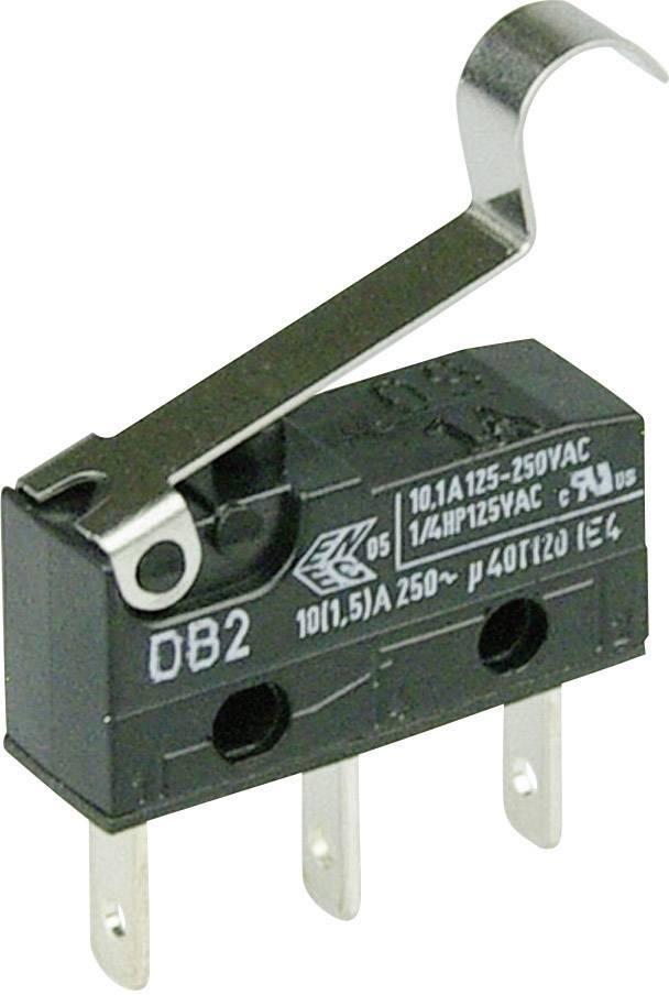 Mikrospínač - páka s valčekom Cherry Switches DB2C-B1SC, 250 V/AC, 10 A