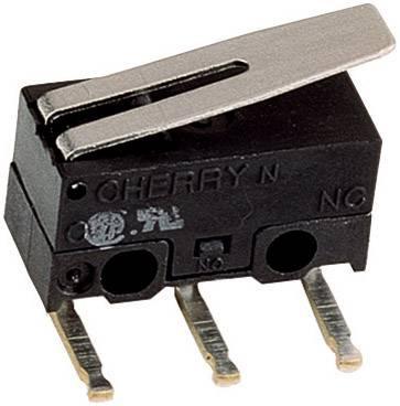 Mikrospínač - rovná kovová páka Cherry Switches DG13-B3LA, 125 V/AC, 3 A
