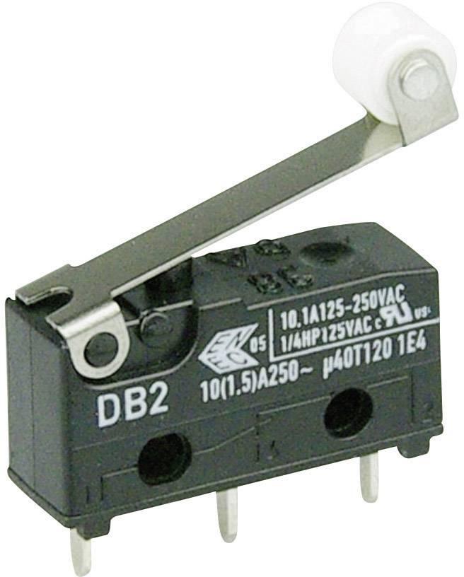 Mikrospínač - páka s valčekom Cherry Switches DB2C-C1RC, 250 V/AC, 10 A