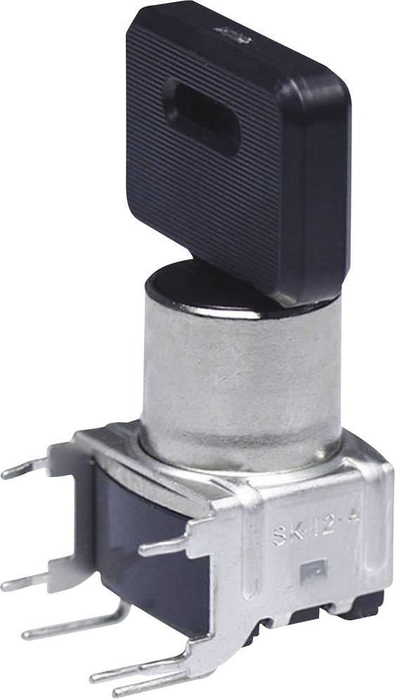 Kľúčový spínač NKK Switches SK14DG30 SK14DG30, 28 V DC/AC, 0.1 A, 1x zap/zap/zap, 2 x 45 °, 1 ks