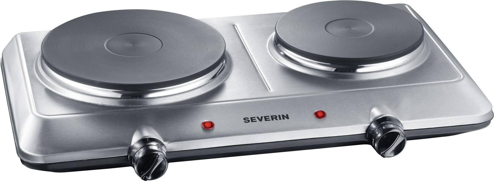 Dvojitá platňa Severin DK 1014 nerezová oceľ kartáčovaná