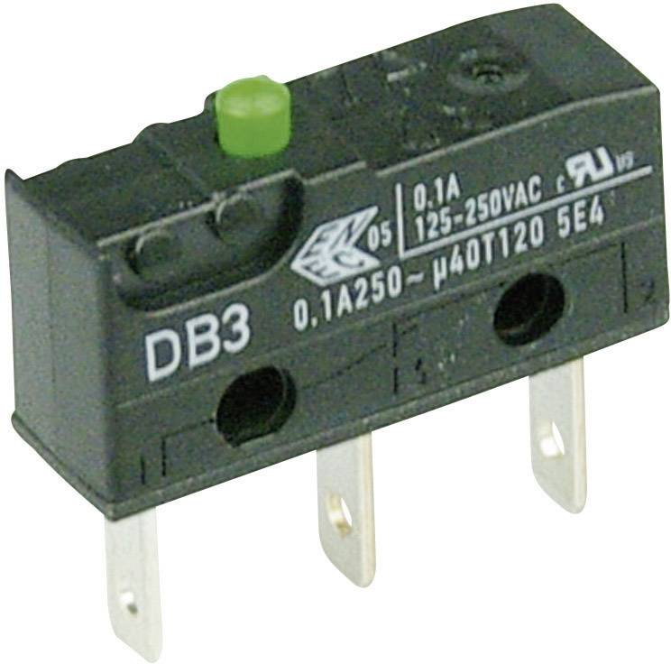 Mikrospínač - zdvíhadlo Cherry Switches DB3C-B1AA, 250 V/AC, 0.1 A
