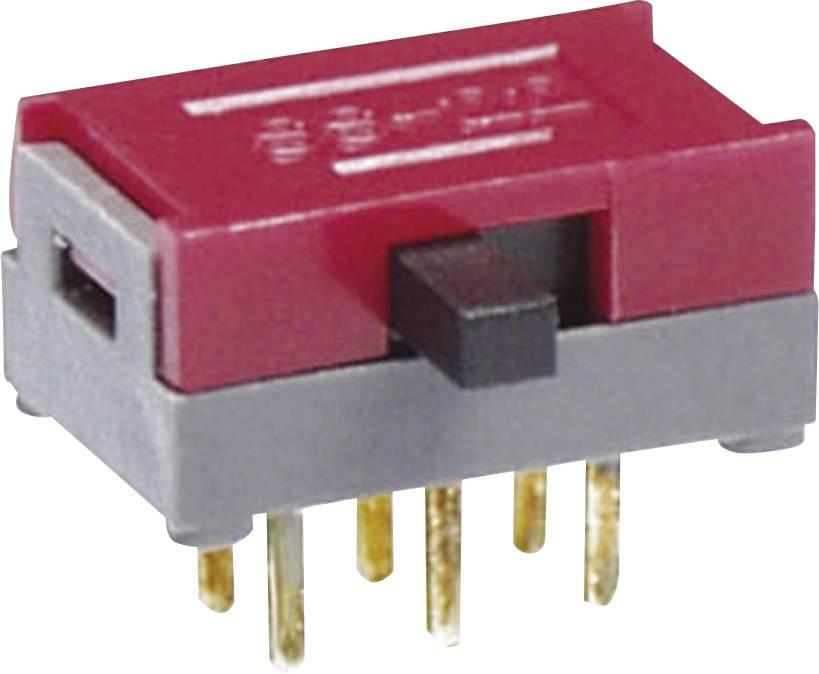 Posuvný prepínač NKK Switches SS12SDH4, 30 V/DC, 0.1 A, 1 zap/zap, 1 ks
