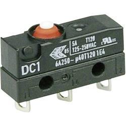 Mikrospínač Cherry Sw. DC1C-A1AA, 250 V/AC, 6 A, pájené, 1x zap/(zap)