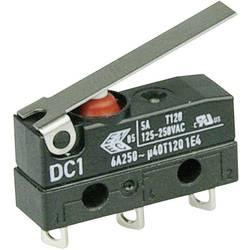 Mikrospínač s páčkou Cherry Sw. DC1C-A1LC, 250 V/AC, 6 A, pájené, 1x zap/(zap)