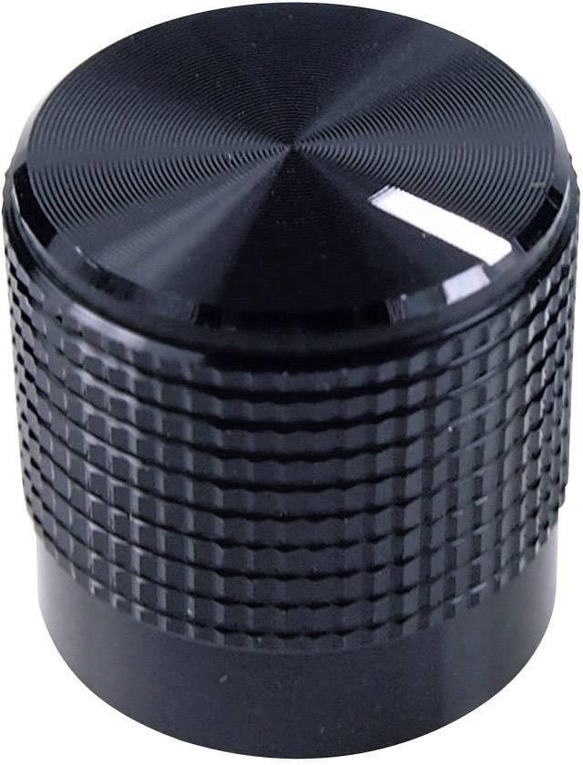 Otočný gombík Cliff FC7223, (Ø x v) 15 mm x 15 mm, čierna, 1 ks