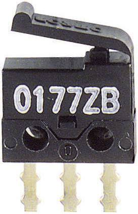 Mikrospínač - plastová páka SSM-001, 30 V/DC, 0.5 A