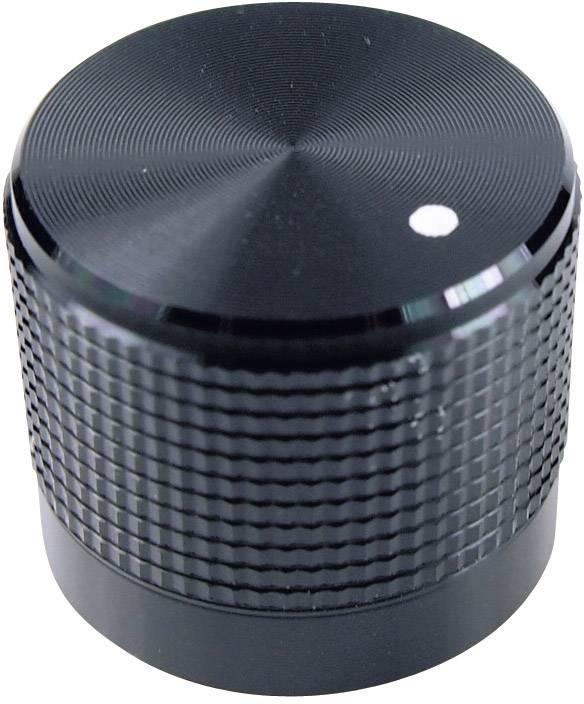 Otočný gombík Cliff FC7225, (Ø x v) 20 mm x 17 mm, čierna, 1 ks