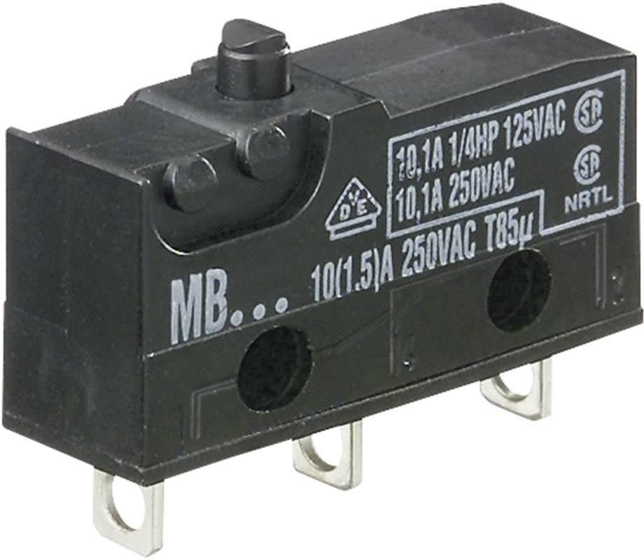 Miniaturní mikrospínač 10 A, bez páčky