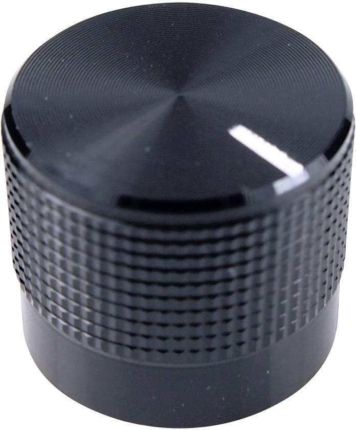 Otočný knoflík Cliff FC7225B, pro sérii KM20, 6 mm, s drážkováním, černá