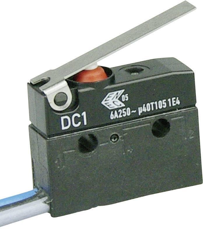 Mikrospínač - rovná kovová páka Cherry Switches DC1C-C3LC, 250 V/AC, 6 A, IP67