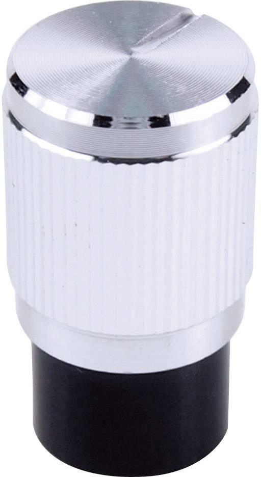 Otočný knoflík Cliff FC7256, pro sérii KMK10E, 6 mm, s drážkováním, stříbrná