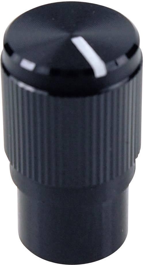 Otočný gombík Cliff FC7257, (Ø x v) 10.7 mm x 19 mm, čierna, 1 ks