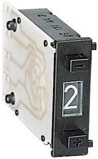 Dvoutlačítkový kódovací spínač, 0-9 spínacích pozic, 7,62 x 24 mm