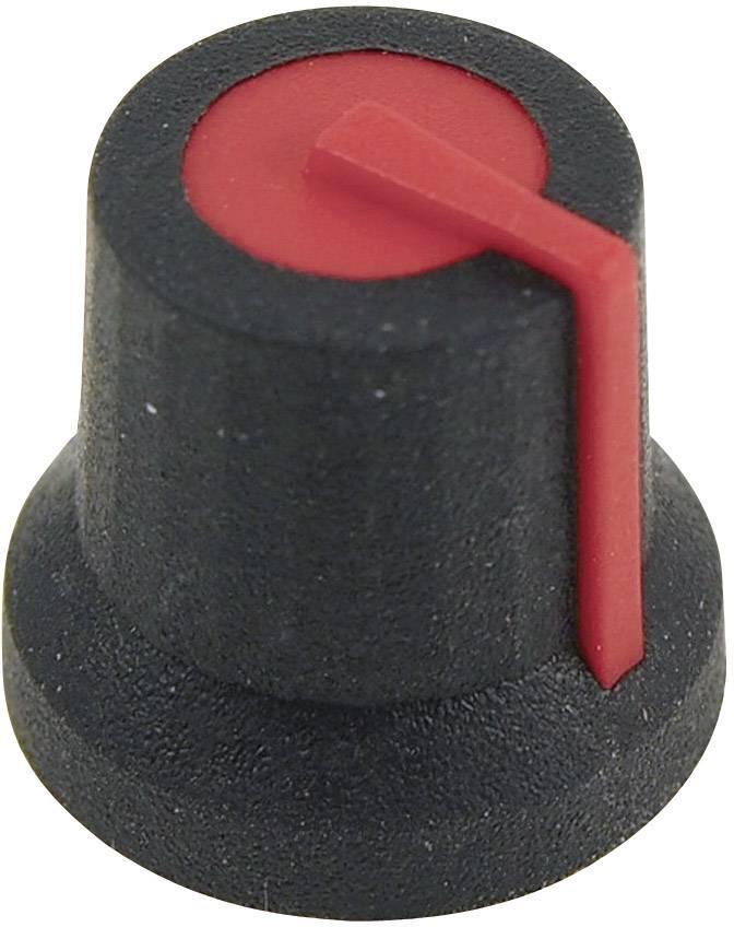 Otočný gombík Cliff CL170823BR, (Ø x v) 16.8 mm x 14.5 mm, čierna/červená, 1 ks