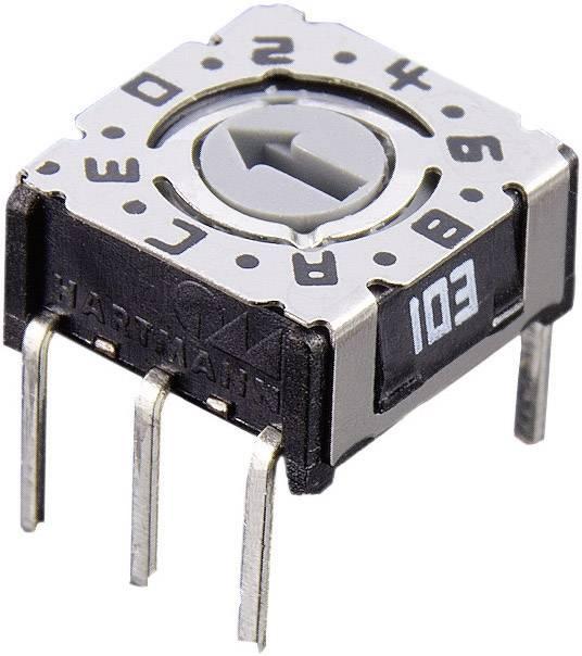 Otočný kódovací přepínač kompaktní konstrukce THT