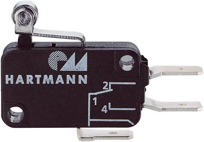 Mikrospínač - páka s rolnou Hartmann 04G01B06B01A, 250 V/AC, 16 A