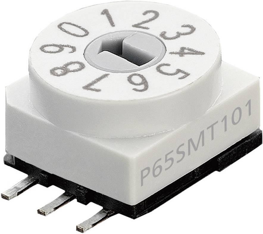 Kódovací spínač Hartmann P65SMT 101, BCD, 0-9, počet pozícií prepínača 10, 1 ks