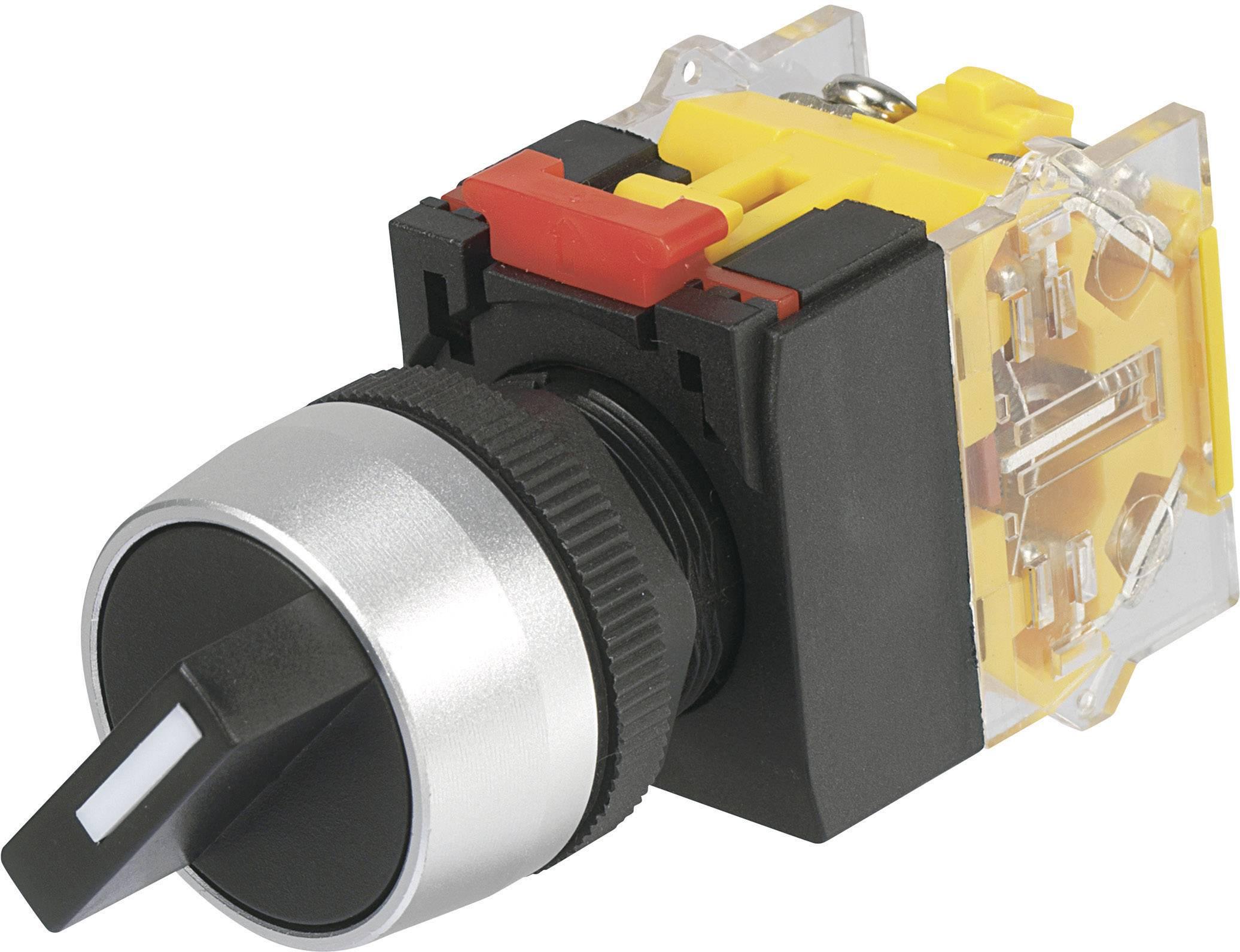 Otočný spínač TRU COMPONENTS LAS0-A3Y-20X/33, 250 V/AC, 5 A, pozice 3, 2 x 45 °, IP40, 1 ks