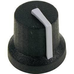 Otočný gombík Cliff CL170844BR, (Ø x v) 16.8 mm x 14.5 mm, čiernosivá, 1 ks