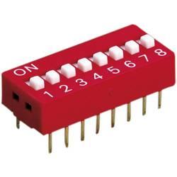 DIP spínač, typ: NDS‑02V, 2pólový, rastr: 2,54 mm