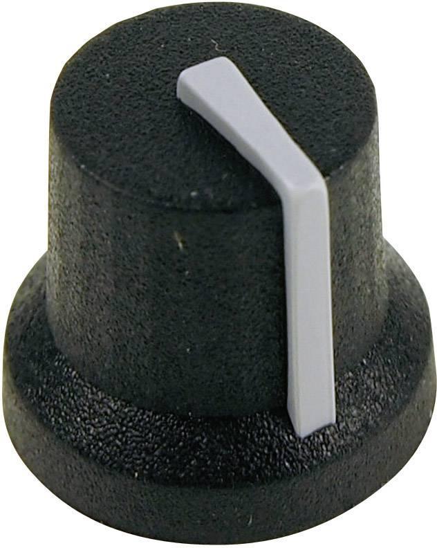 Otočný knoflík Cliff CL170844CR, pro sérii K87MBR, 6 mm, s drážkováním, černá