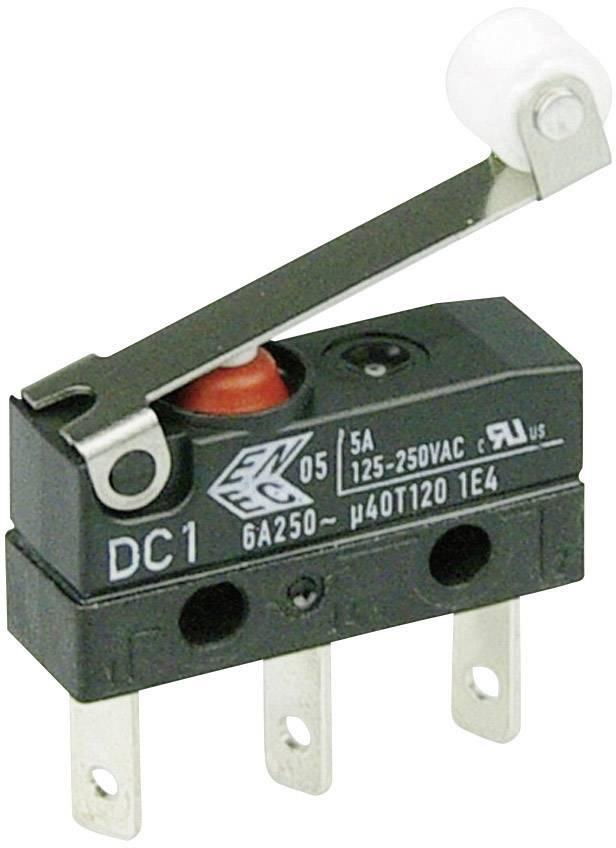 Mikrospínač - páka s valčekom Cherry Switches DC1C-L1RC, 250 V/AC, 6 A, IP67