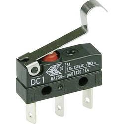 Mikrospínač s páčkou Cherry Sw. DC1C-L1SC, 250 V/AC, 6 A, 1x zap/(zap)