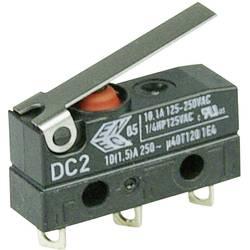 Mikrospínač s páčkou Cherry Sw. DC2C-A1LB, 250 V/AC, 10 A, pájené, 1x zap/(zap)