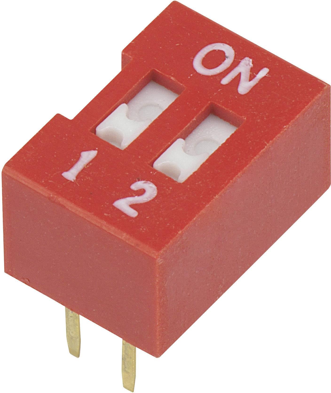DIP spínač DSR-02, (š x v) 9,9 mm x 5,7 mm