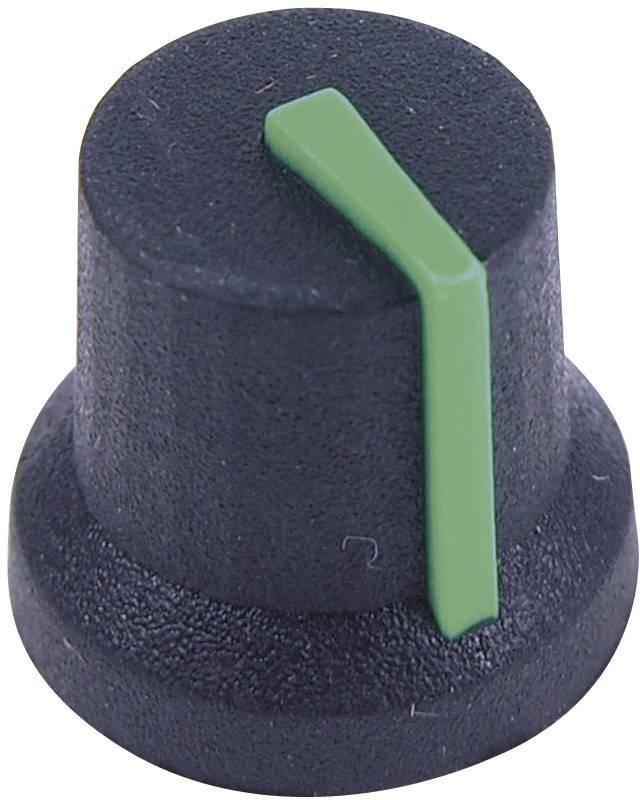 Otočný knoflík Cliff CL170852BR, pro sérii K87MBR, 6 mm, s drážkováním, černá