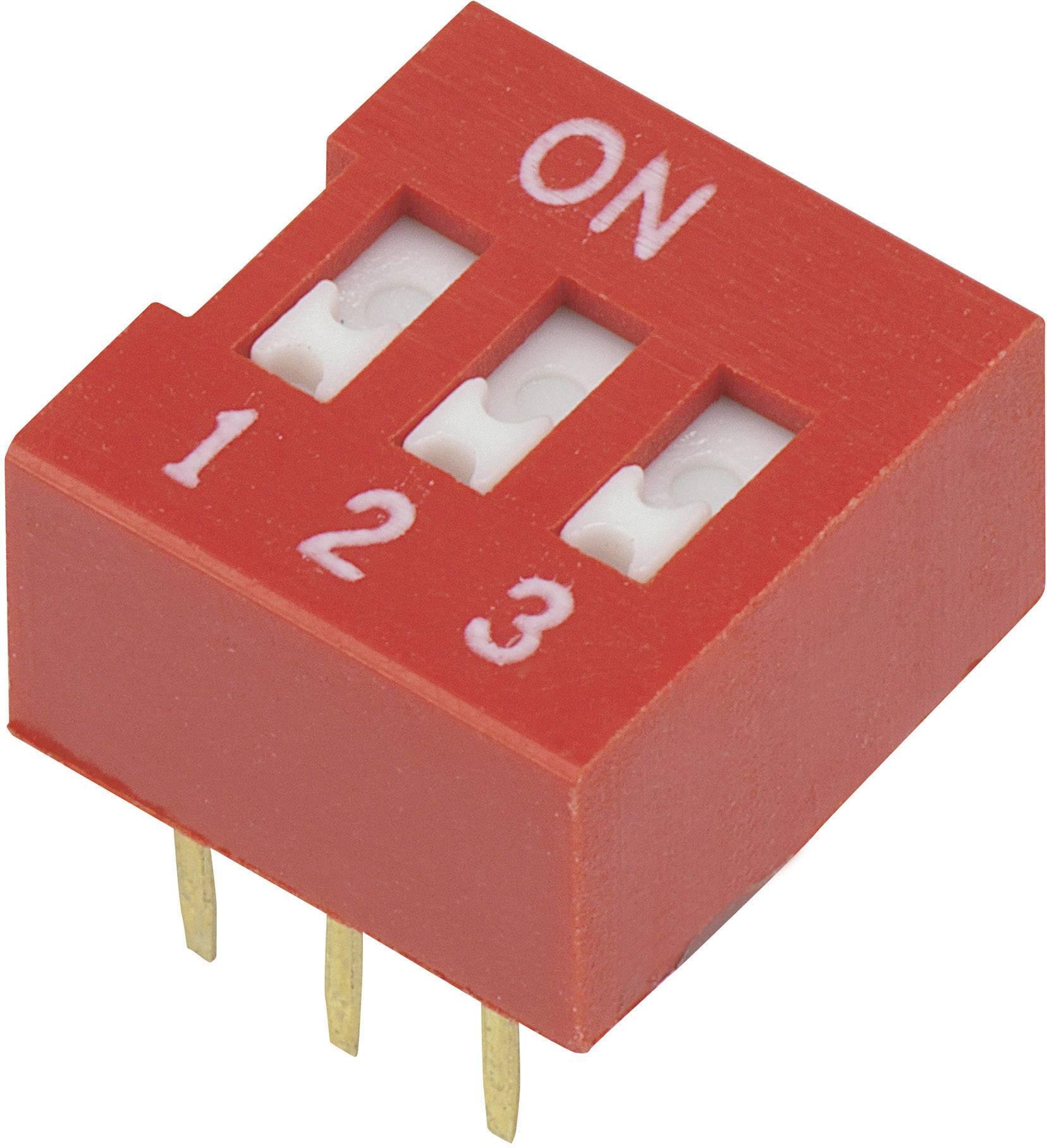 DIP spínač DSR-03, (š x v) 9,9 mm x 5,7 mm