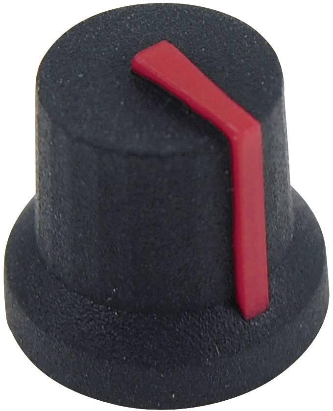 Otočný knoflík Cliff CL170853BR, pro sérii K87MBR, 6 mm, s drážkováním, černá