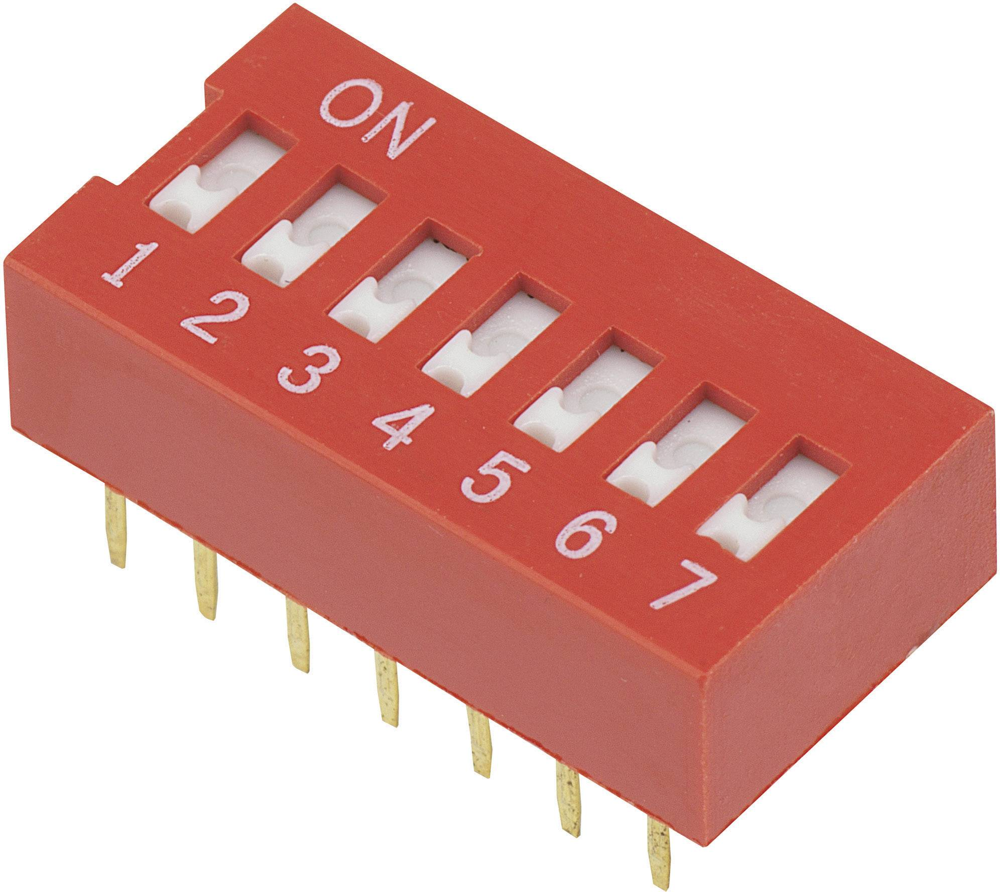 DIP spínač DSR-07, (š x v) 9,9 mm x 5,7 mm