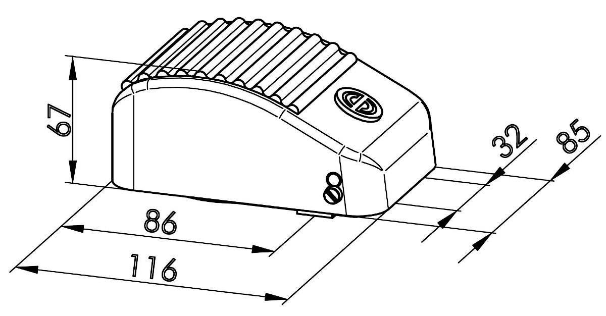 Nožné / ručné tlačidlo Schlegel KEF BK, 250 V/AC, 10 A, 1 spínací, 1 rozpínací, 1 pedál , IP65, 1 ks