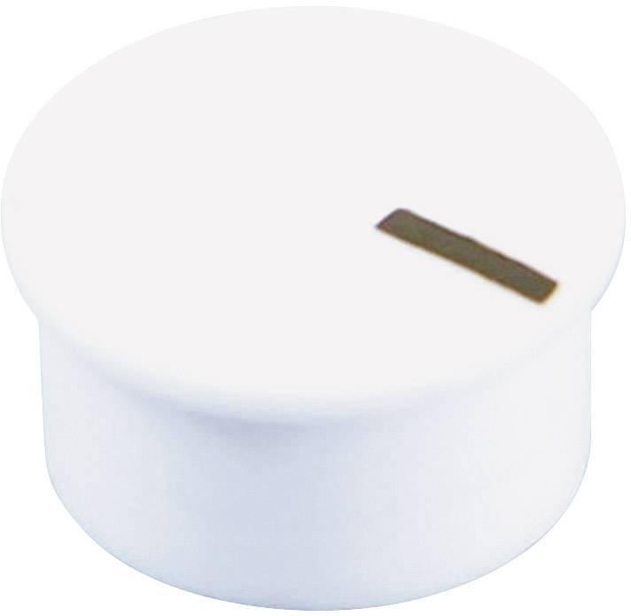 Krytka na knoflík Cliff CL177903A, s ukazatelem, pro sérii K85, bílá