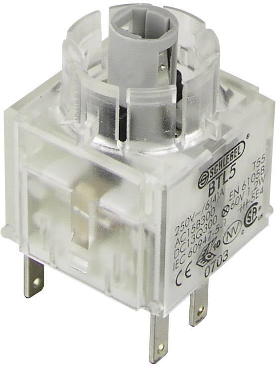 Spínacie kontaktné teleso s objímkou lampičky Schlegel BTL5, 1 rozpínací, 1 spínací, bez aretácie, 250 V, 1 ks