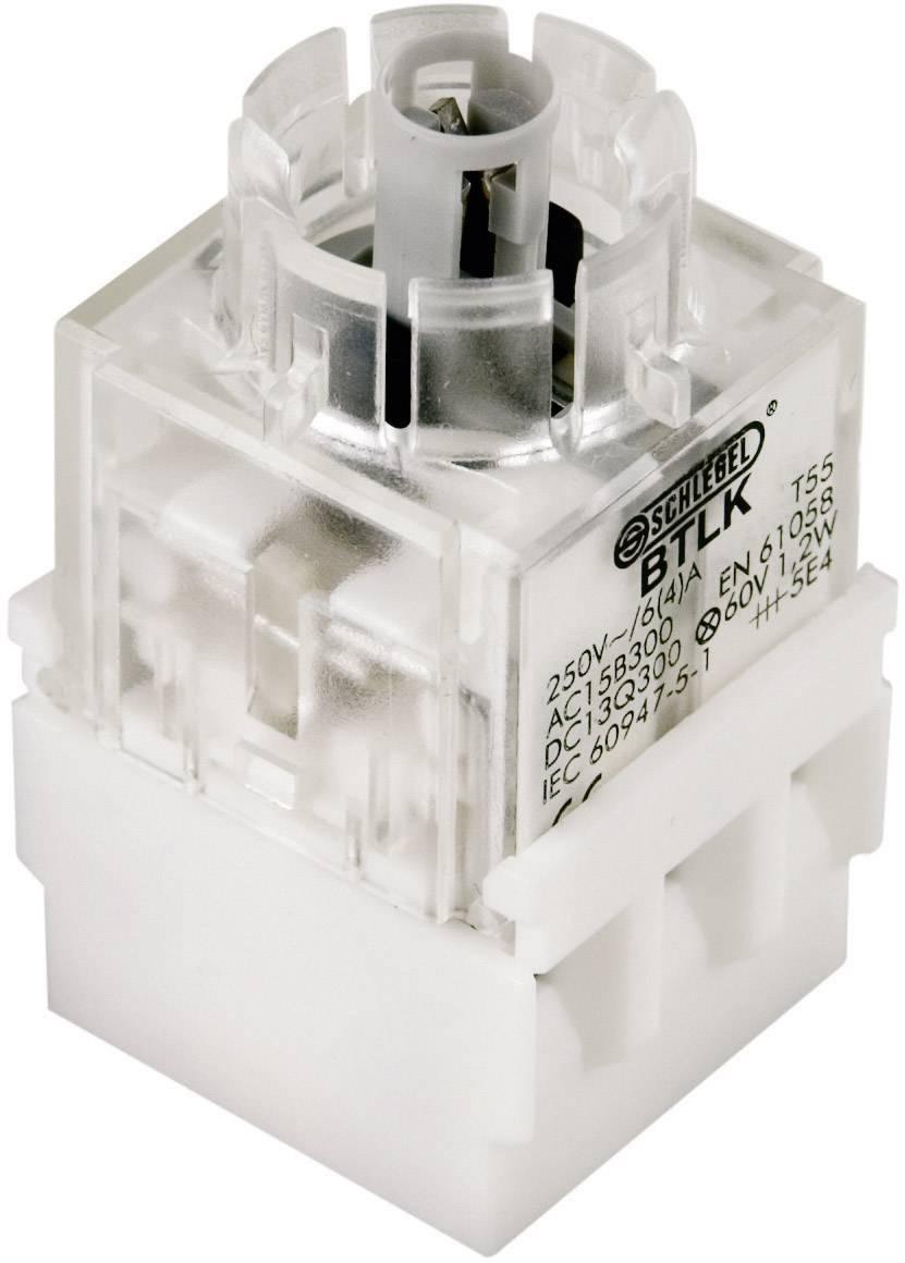 Spínacie kontaktné teleso s objímkou lampičky Schlegel BTL5K, 1 rozpínací, 1 spínací, bez aretácie, 250 V, 1 ks