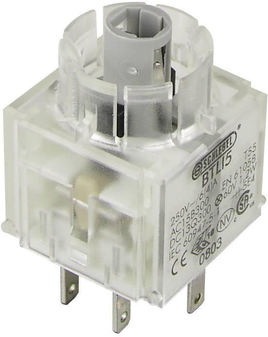 Spínacie kontaktné teleso s objímkou lampičky Schlegel BTLI5, 2 spínacie, bez aretácie, 250 V, 1 ks